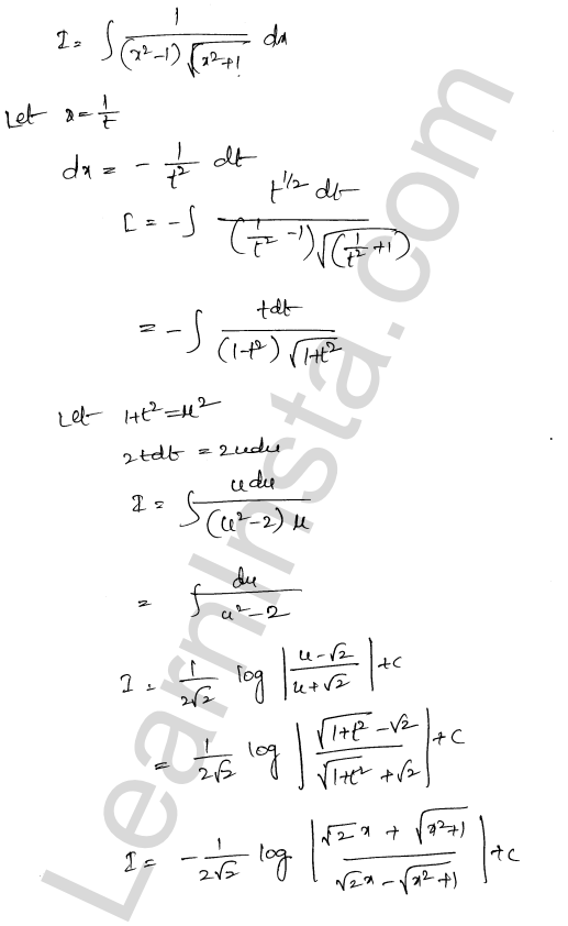 RD Sharma Solutions Class 12 Indefinite Integrals Chapter 19 Ex 19.32 9