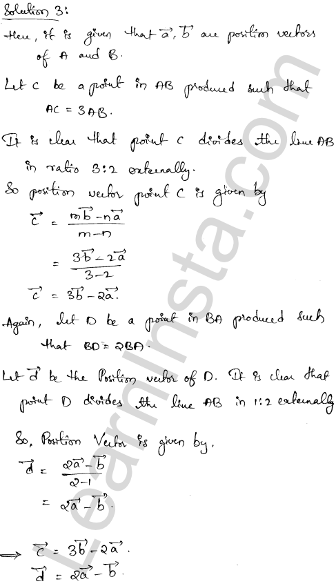 RD Sharma Class 12 Solutions Algebra of Vectors Chapter 23 Ex 23.3 2