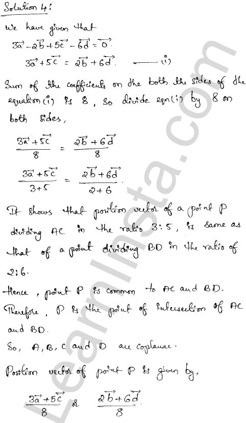 RD Sharma Solutions Class 12 Algebra of Vectors Chapter 23 Ex 23.3 3