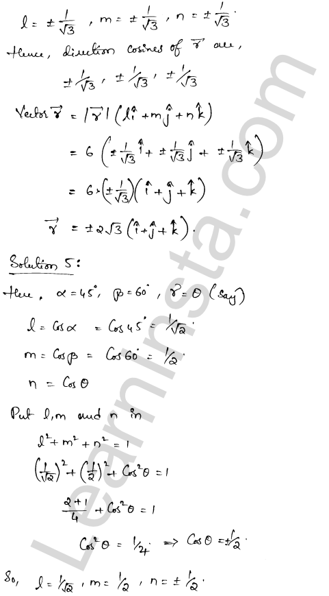 RD Sharma Solutions Class 12 Algebra of Vectors Chapter 23 Ex 23.9 4