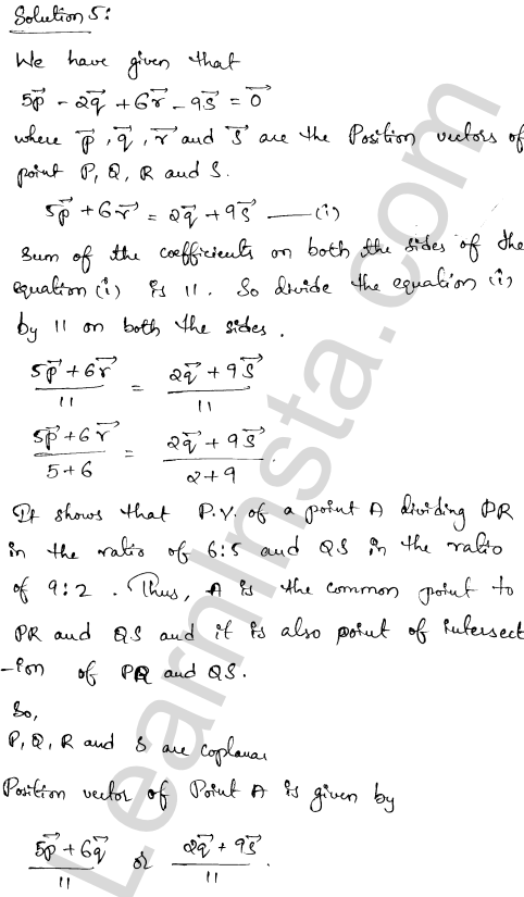 RD Sharma Class 12 Maths Solutions Chapter 23 Algebra of Vectors Ex 23.3 4