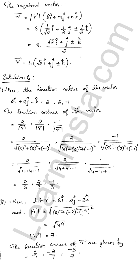 RD Sharma Class 12 Maths Solutions Chapter 23 Algebra of Vectors Ex 23.9 4