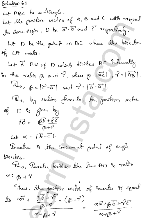 Solution of RD Sharma class 12 chapter 23 Algebra of Vectors Ex 23.3  5
