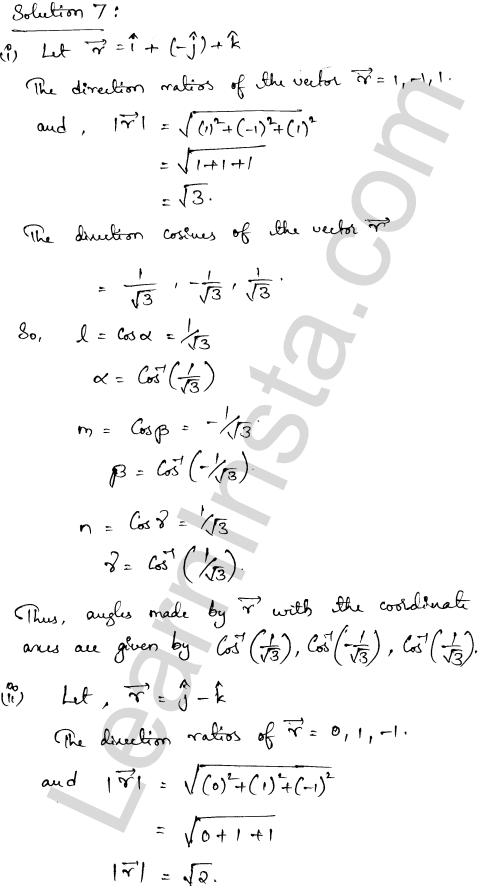 Solution of RD Sharma class 12 chapter 23 Algebra of Vectors Ex 23.9 5