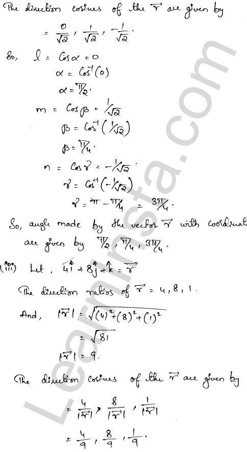 Class 12 RD Sharma solutions chapter 23 Algebra of Vectors Ex 23.9 6