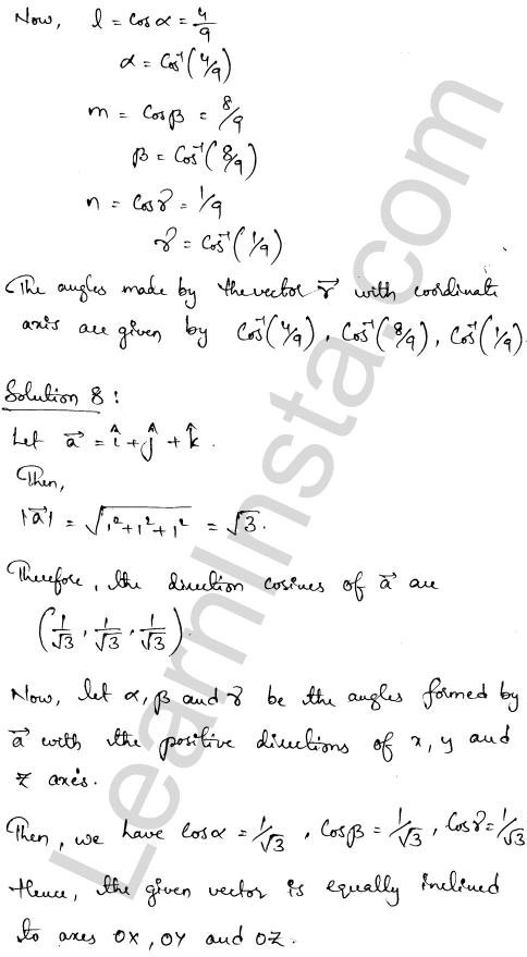 Class 12 RD Sharma maths solutions chapter 23 Algebra of Vectors Ex 23.9 7