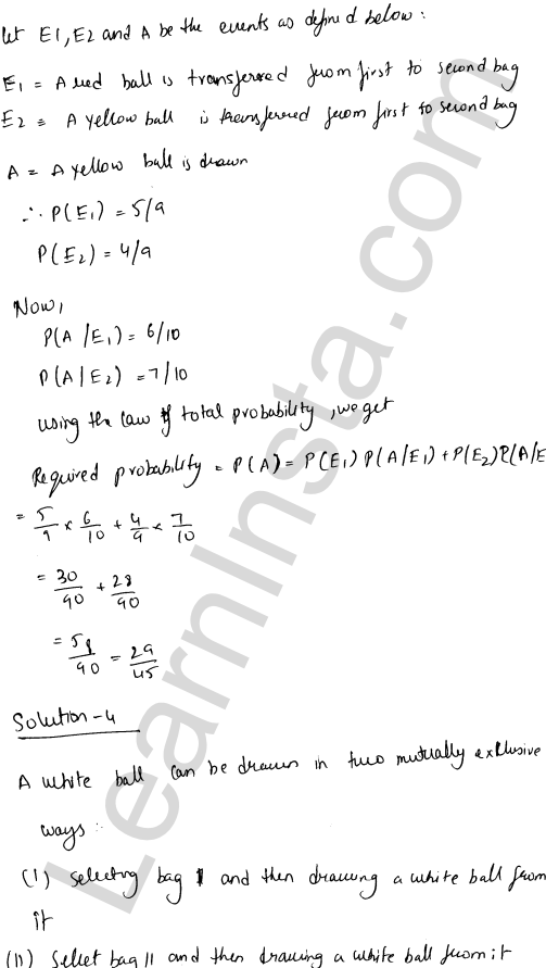 RD Sharma Class 12 Solutions Chapter 31 Probability Ex 31