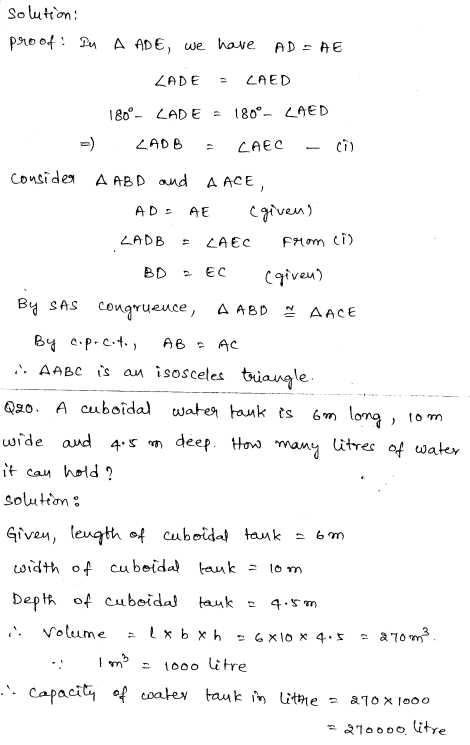 Solved CBSE Sample Papers for Class 9 Maths Paper 1 10