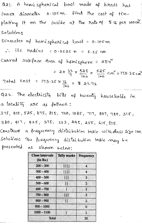 Maths Sample Question Papers for Class 9 Set 1 11