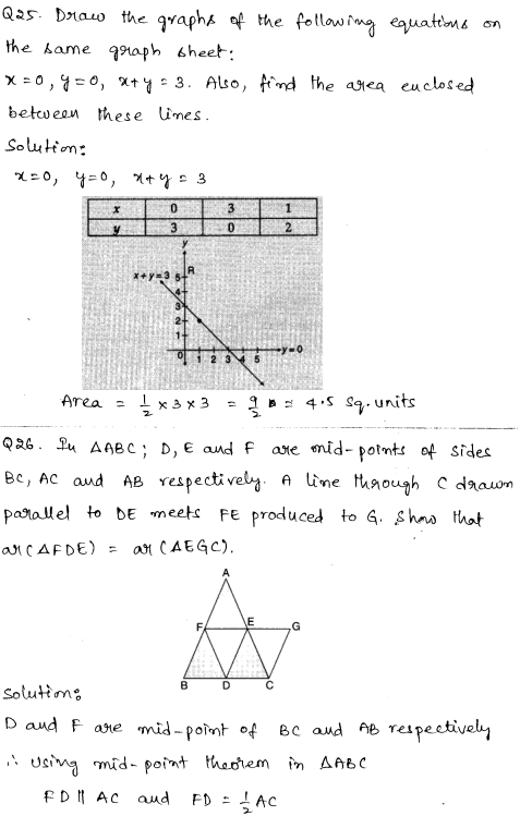 Sample Papers for Class 9 Maths Solved paper 1 13