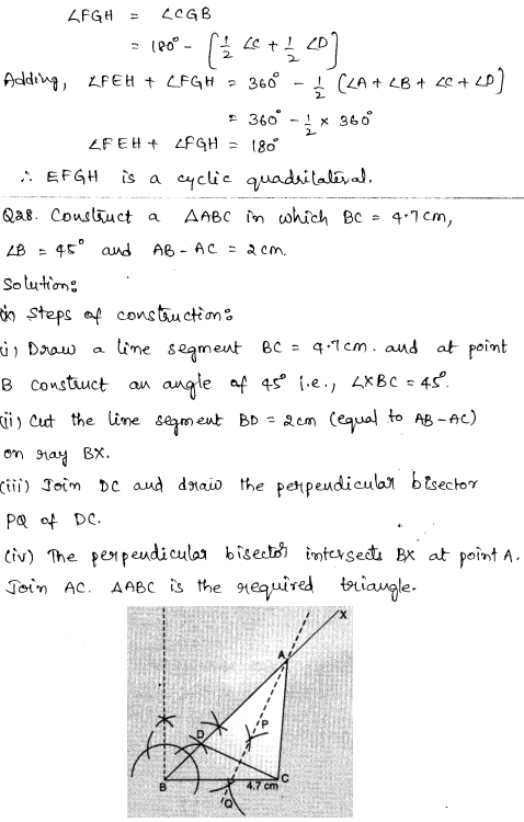 CBSE Sample Papers for Class 9 Maths Solved paper 1 15