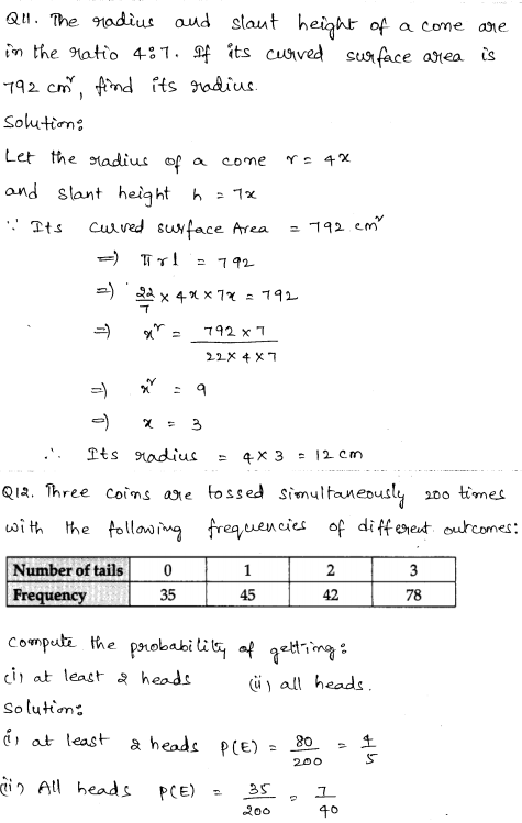 Sample Papers for Class 9 Maths Solved paper 1 5