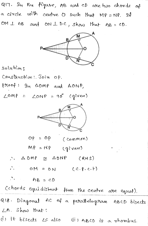 Solved CBSE Sample Papers for Class 9 Maths Paper 1 8
