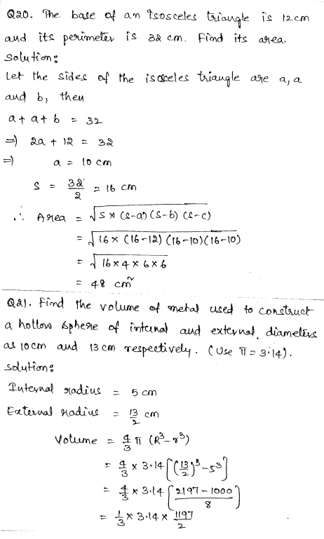 Maths Sample Question Papers for Class 9 Set 2 11