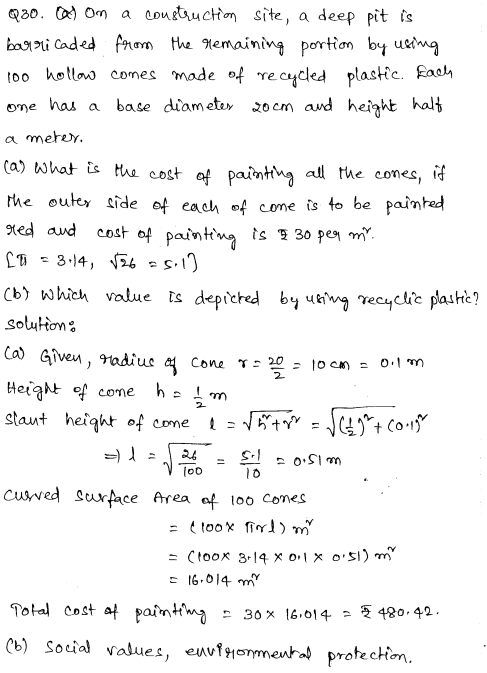 Solved CBSE Sample Papers for Class 9 Maths Paper 2 18