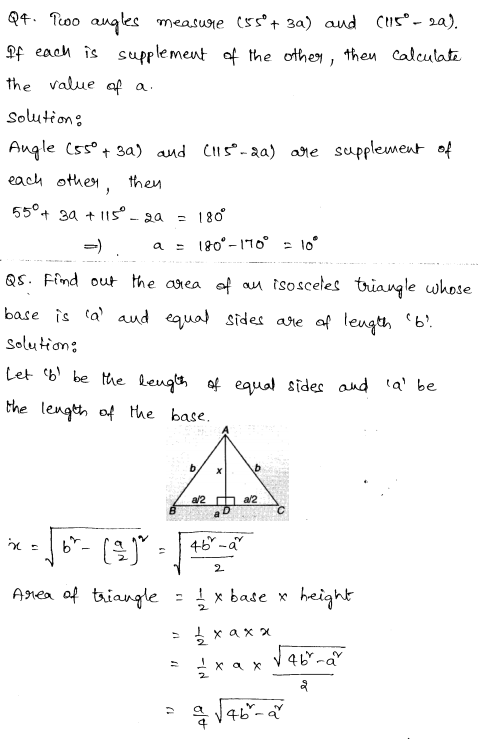 Solved CBSE Sample Papers for Class 9 Maths Paper 2 2