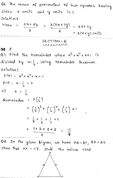 Maths Sample Question Papers for Class 9 Set 2 3