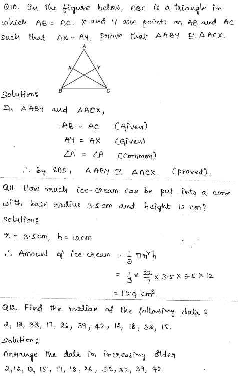 Sample Papers for Class 9 Maths Solved paper 2 5