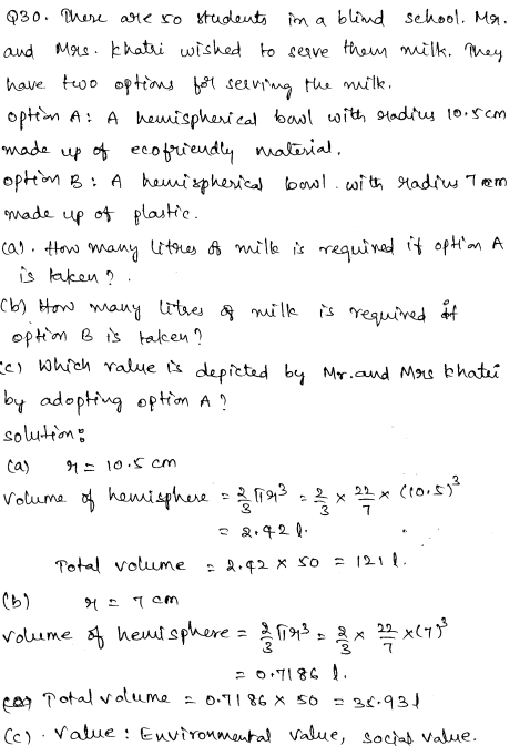 Sample Papers for Class 9 Maths Solved paper 3 17