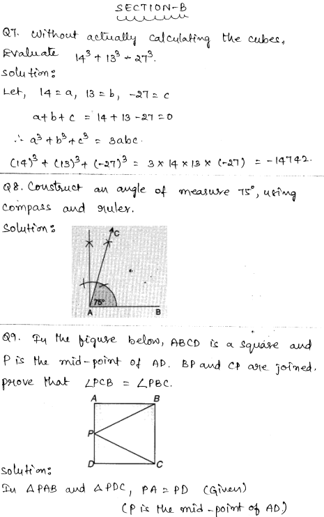 Maths Sample Question Papers for Class 9 Set 3 3