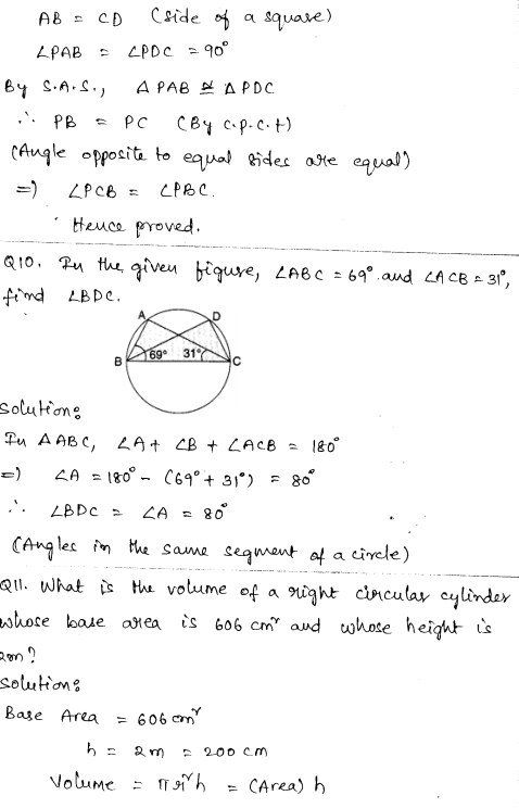 Maths Sample Papers for Class 9 Set 3 4
