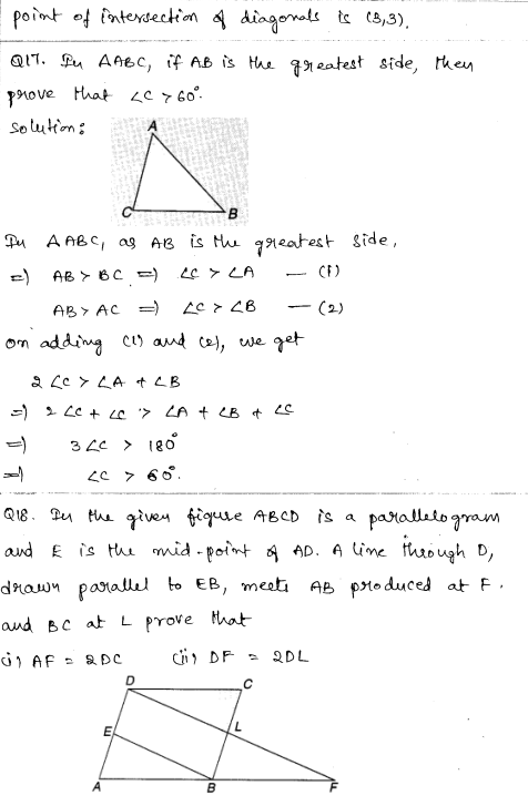 Solved CBSE Sample Papers for Class 9 Maths Paper 3 8