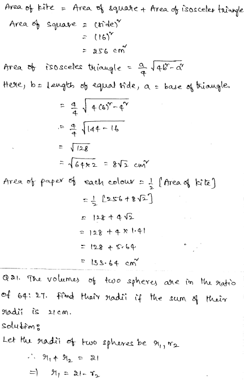 Maths Sample Question Papers for Class 9 Set 4 11