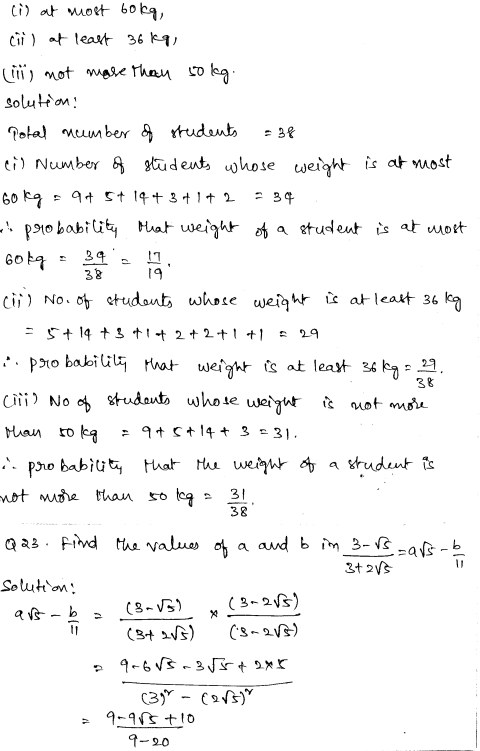 Sample Papers for Class 9 Maths Solved paper 4 13