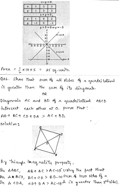 CBSE Sample Papers for Class 9 Maths Solved paper 4 15