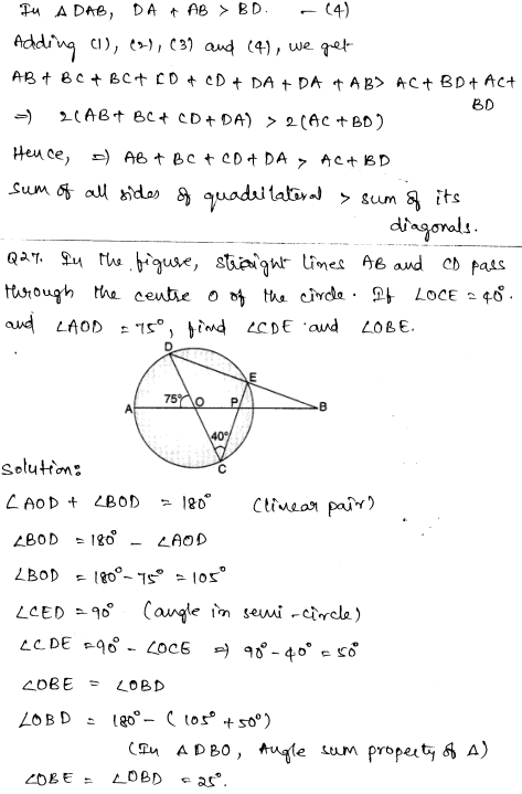 Solved CBSE Sample Papers for Class 9 Maths Paper 4 16