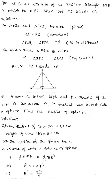 Maths Sample Papers for Class 9 Set 4 4
