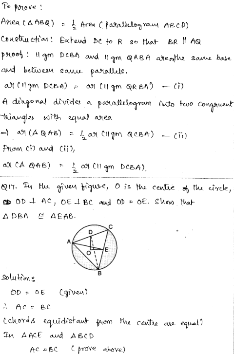 Solved CBSE Sample Papers for Class 9 Maths Paper 4 8