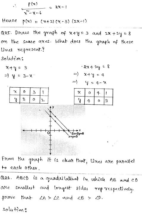 CBSE Sample Papers for Class 9 Maths Solved paper 5 15
