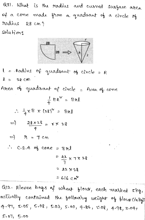 Sample Papers for Class 9 Maths Solved paper 5 5