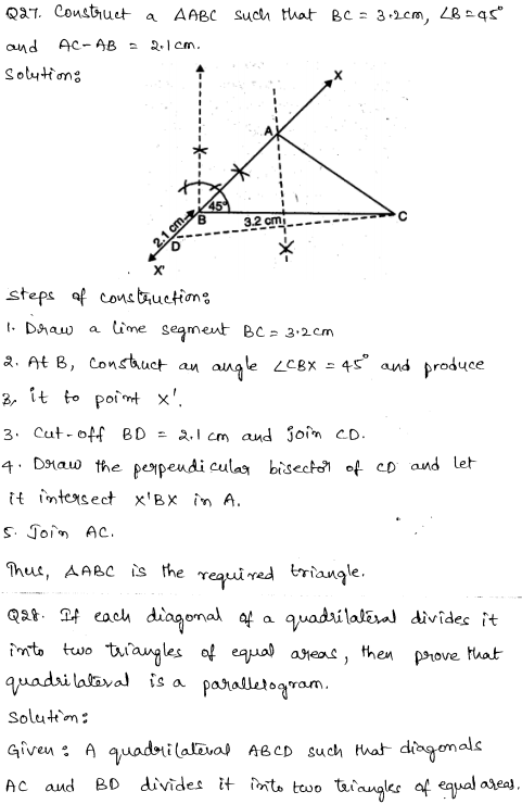 Maths Sample Question Papers for Class 9 Set 6 19