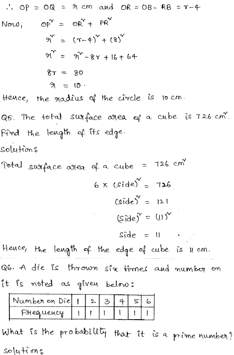Solved CBSE Sample Papers for Class 9 Maths Paper 6 2