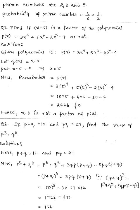 Maths Sample Question Papers for Class 9 Set 6 3