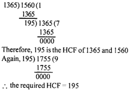 Problems on HCF Method of Division Ex 2