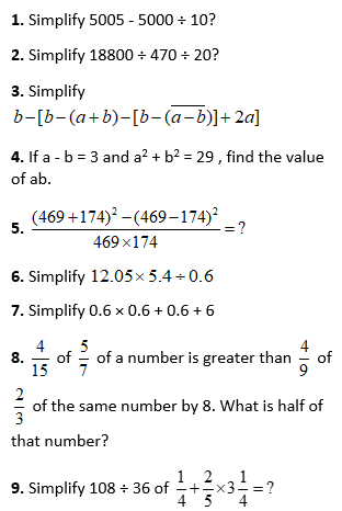 Simplification Practice Problems
