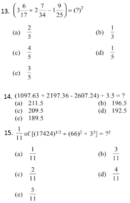 Simplification Questions for IBPS CLERK 2013 4