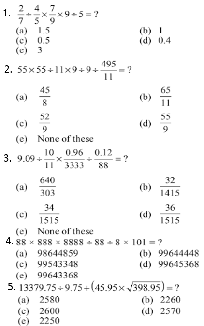 Simplifications Questions for IBPS PO 2017 1