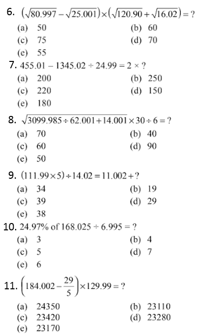 Simplifications Questions for IBPS PO 2017 2