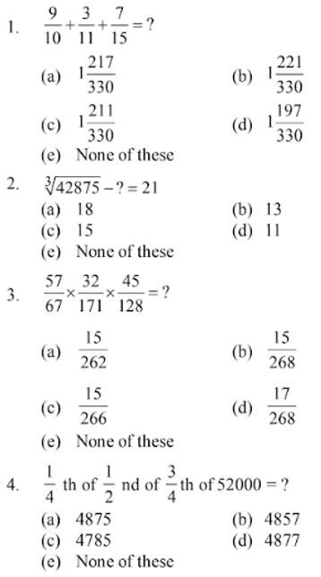 Simplification Questions for SBI CLERK 2011 1
