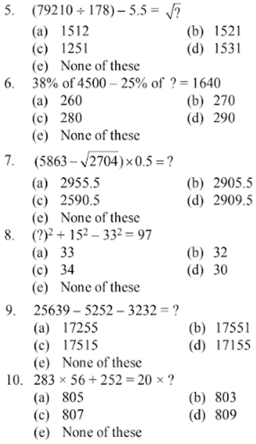 Simplification Questions for SBI CLERK 2011 2