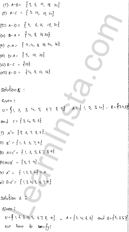 RD Sharma Class 11 Solutions Chapter 1 Sets Ex 1.5 3