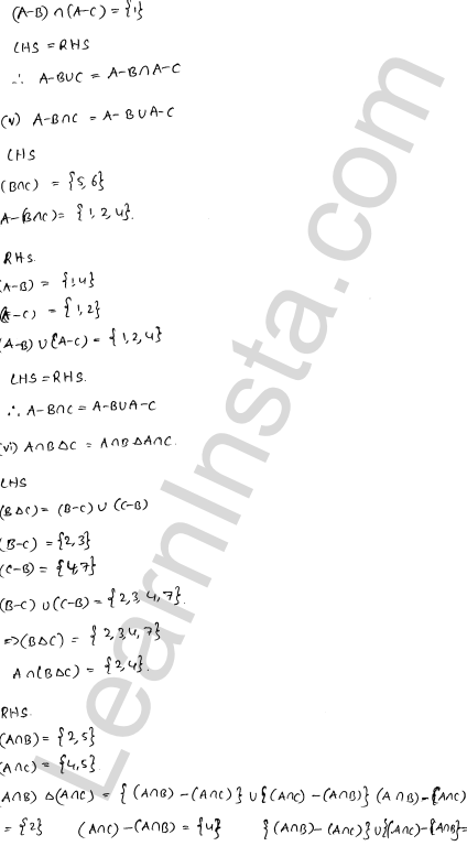 RD Sharma Class 11 Solutions Chapter 1 Sets Ex 1.6 3