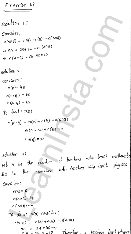 RD Sharma Class 11 Solutions Chapter 1 Sets Ex 1.8 1