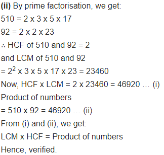 Real Numbers Class 10 Ex 1.2 Q 2 i 1