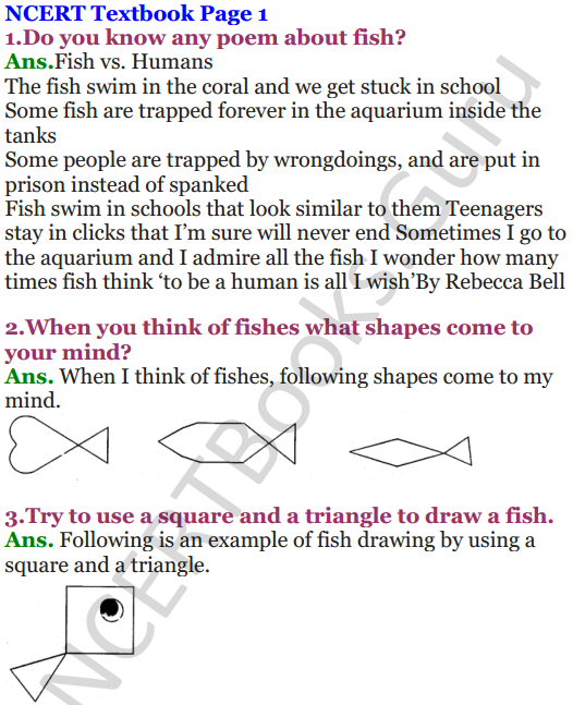 NCERT Solutions for Class 5 Maths Chapter-1 The Fish Tale 1