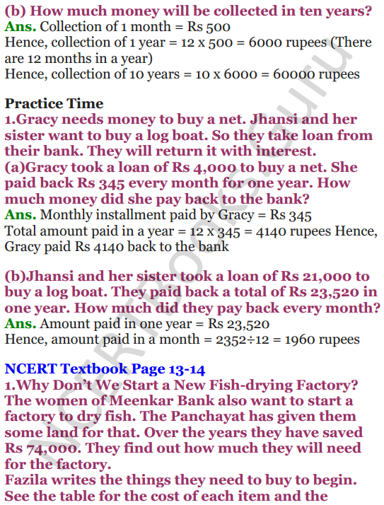 NCERT Solutions for Class 5 Maths Chapter-1 The Fish Tale 10